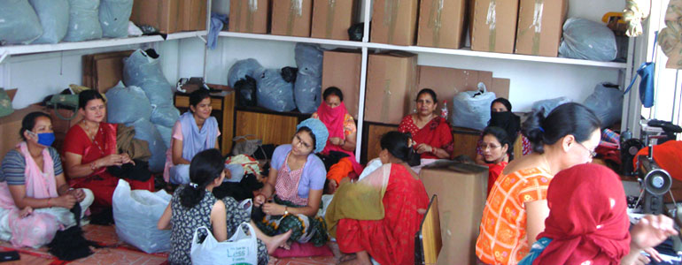 Indecom Soie supports women articians of Nepal